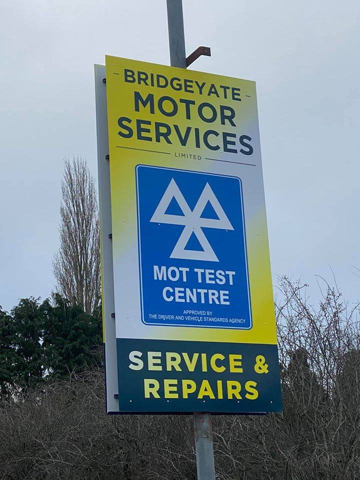 Mot Sign Outside Garage